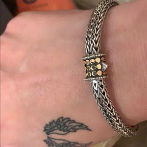 John Hardy dot collection sterling gold bracelet.